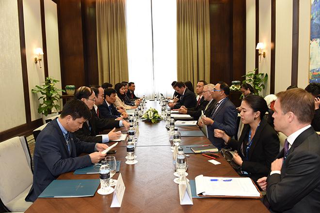 Bộ trưởng Nguyễn Ngọc Thiện tiếp và làm việc với Hội đồng kinh doanh Hoa Kỳ - ASEAN
