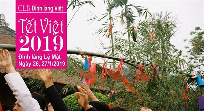"""""""Tết Việt xuân Kỷ Hợi 2019"""" tại đình làng Lệ Mật Long Biên (Hà Nội)"""