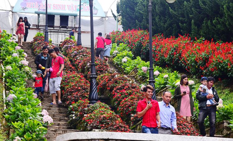 Gần 6 triệu lượt khách đến Lâm Đồng trong 10 tháng đầu năm