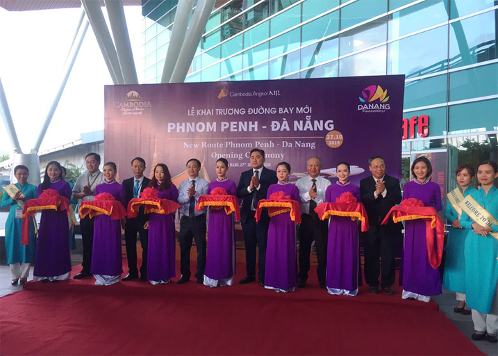 Cambodia Angkor Air  khai trường đường bay mới Đà Nẵng- Phnom Penh