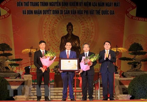 Lễ hội đền thờ Trạng Trình là di sản văn hóa phi vật thể quốc gia