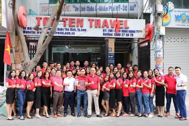 Top Ten Travel – Không ngừng phát triển để đứng vào hàng ngũ 10 Công ty du lịch hàng đầu Việt Nam