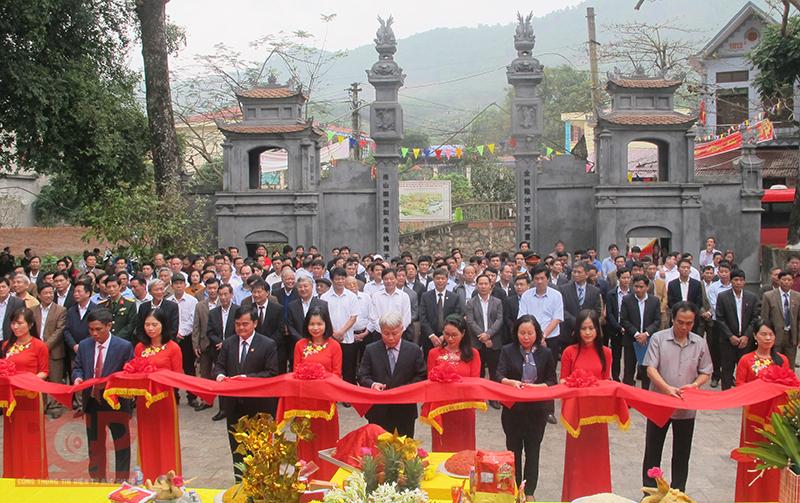Lễ khánh thành đền Hạ, khu du lịch sinh thái Suối Mỡ