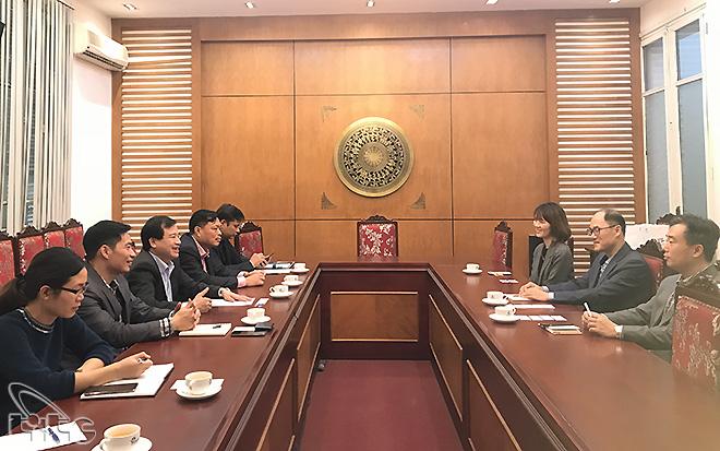 Phó Tổng cục trưởng Hà Văn Siêu tiếp Trưởng đại diện Tổng cục Du lịch Hàn Quốc tại Việt Nam