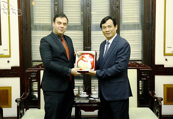 Tổng cục trưởng Nguyễn Trùng Khánh tiếp Đại sứ Israel Nadav Eshcar