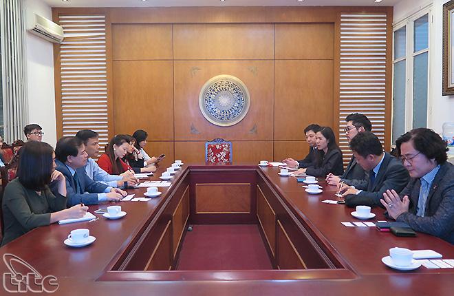 Phó Tổng cục trưởng Hà Văn Siêu tiếp đoàn công tác Hội đồng Thành phố Seoul, Hàn Quốc