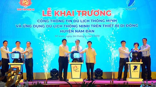 Khai trương Cổng thông tin du lịch thông minh huyện Nam Đàn