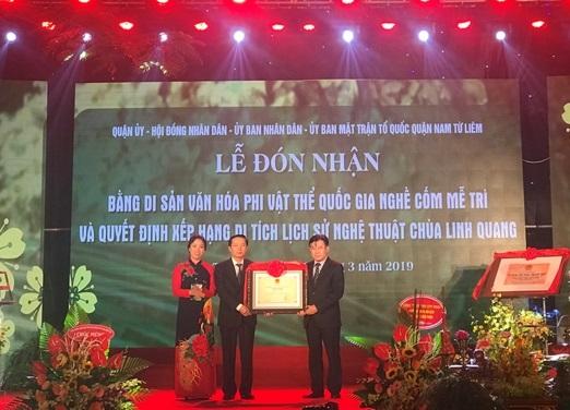 Nghề cốm Mễ Trì được công nhận là Di sản văn hóa phi vật thể quốc gia