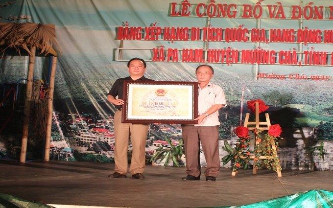 Hang Huổi Cang, Huổi Đáp được công nhận Di tích quốc gia
