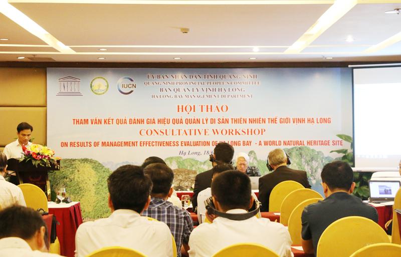 """Hội thảo """"Tham vấn kết quả đánh giá hiệu quả quản lý Di sản thiên nhiên thế giới Vịnh Hạ Long"""""""