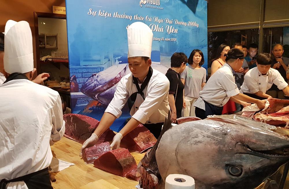 Trình diễn ẩm thực cá ngừ đại dương Phú Yên tại Hà Nội