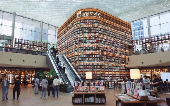 Thư viện Starfield ở Hàn Quốc thu hút khách du lịch