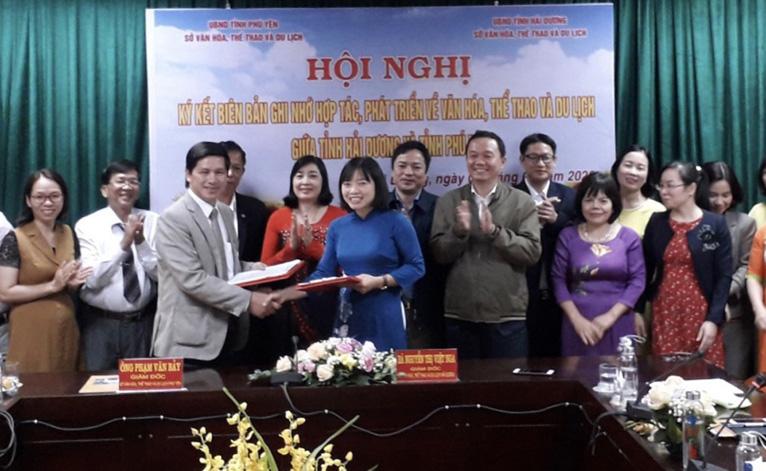 Ký kết hợp tác phát triển về văn hóa, thể thao và du lịch giữa tỉnh Hải Dương và Phú Yên