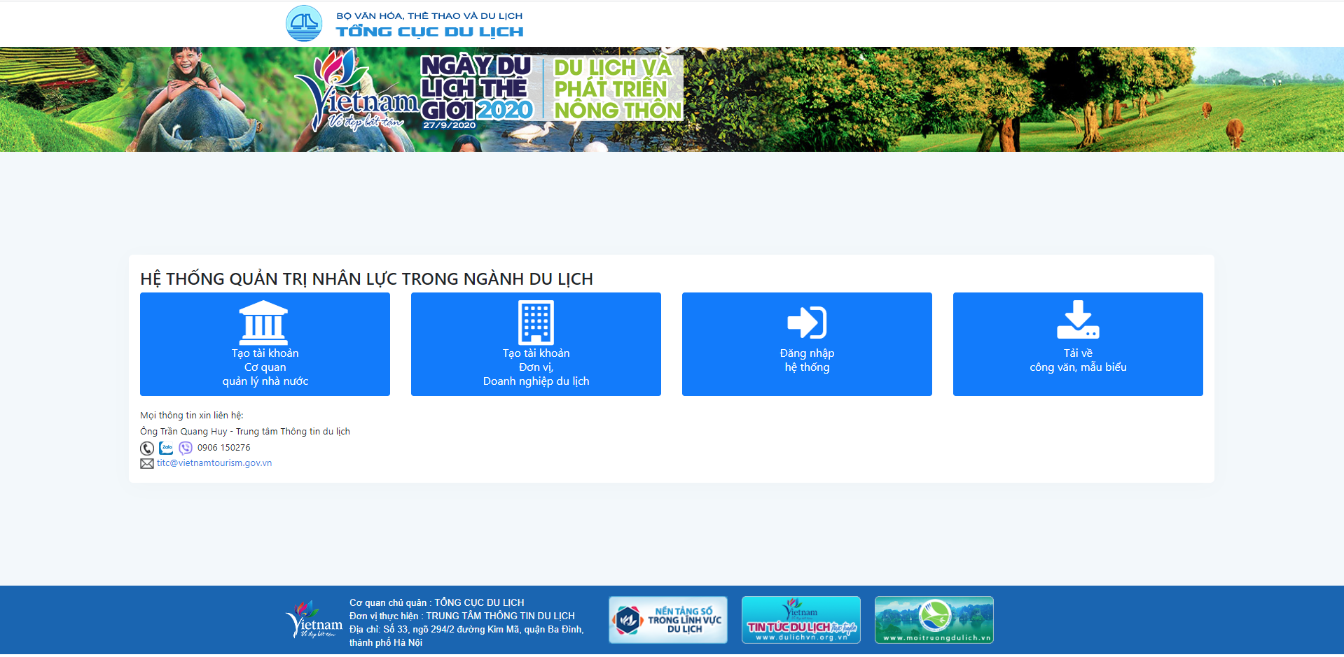 Hướng dẫn cập nhật thông tin trên phần mềm quản trị nhân lực trong ngành du lịch