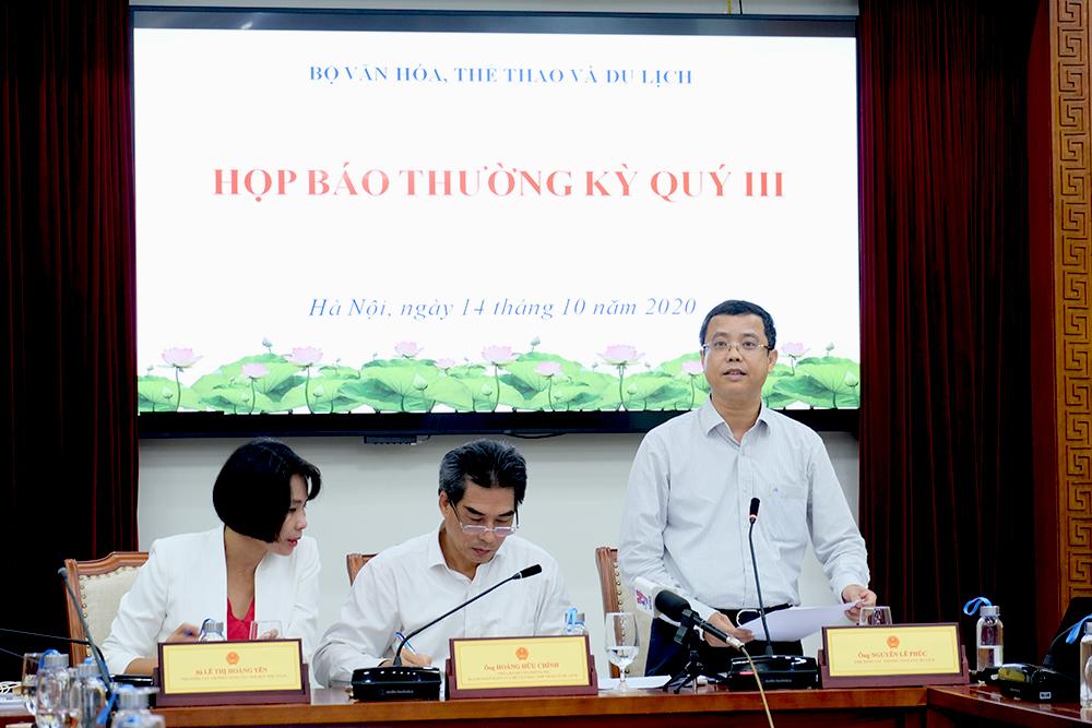 """Giới thiệu ứng dụng """"Du lịch Việt Nam an toàn"""" tại họp báo quý 3/2020 của Bộ VHTTDL"""