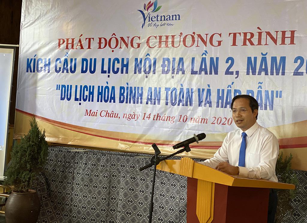 Phó Tổng cục trưởng Ngô Hoài Chung tham dự Chương trình kích cầu du lịch tỉnh Hoà Bình