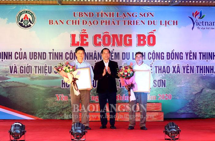 Công bố điểm du lịch cộng đồng Yên Thịnh, Hữu Liên và giới thiệu sản phẩm du lịch leo núi