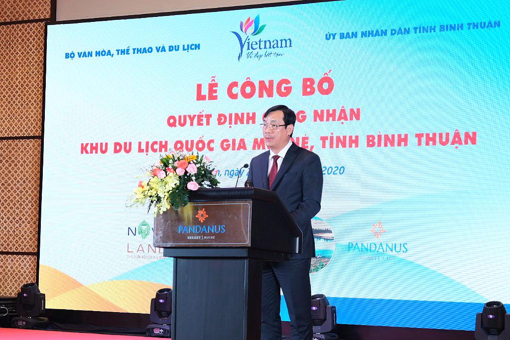 Lễ Công bố Quyết định công nhận Khu du lịch quốc gia Mũi Né, tỉnh Bình Thuận