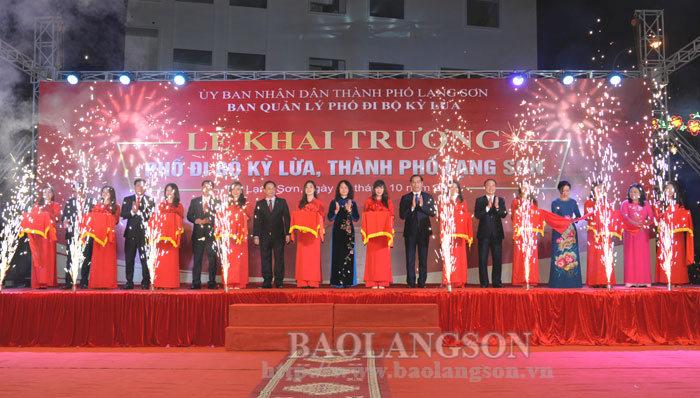 Khai trương Phố đi bộ Kỳ Lừa, thành phố Lạng Sơn