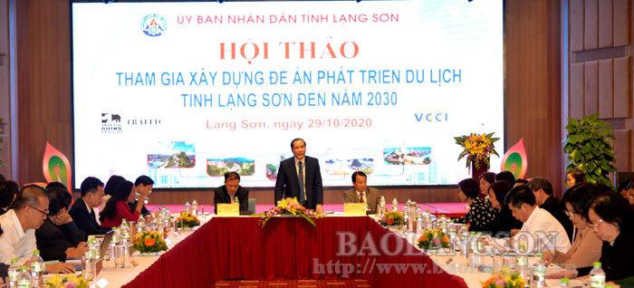 Hội thảo tham gia xây dựng Đề án phát triển du lịch tỉnh Lạng Sơn đến năm 2030