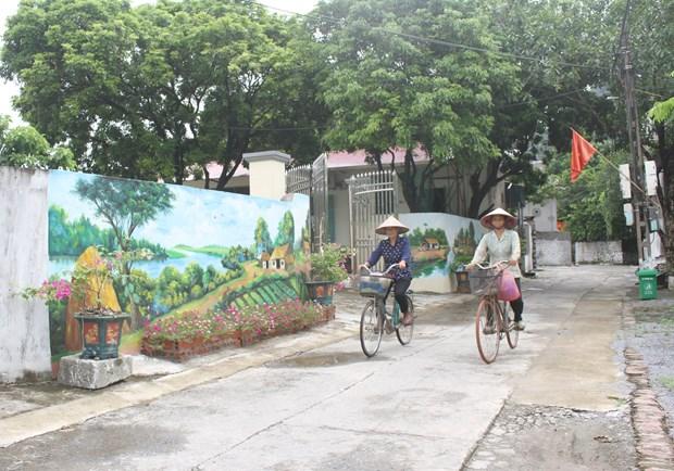 Ninh Bình: Lạc lối với những con đường bích họa tại vùng quê yên bình