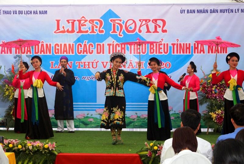 Liên hoan Văn hóa dân gian các di tích tiêu biểu tỉnh Hà Nam