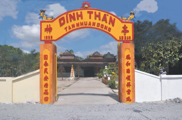 Đình Tân Nhuận Đông (Đồng Tháp) được Bộ Văn hóa, Thể thao và Du lịch xếp hạng Di tích Quốc gia