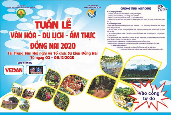 Tuần lễ Văn hóa – Du lịch - Ẩm thực tỉnh Đồng Nai năm 2020