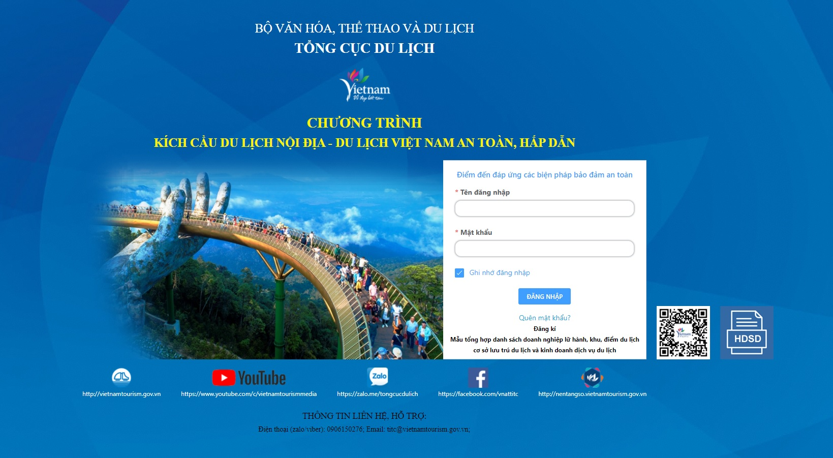 Hướng dẫn đăng ký và tự đánh giá an toàn COVID-19 trên website http://safe.tourism.com.vn