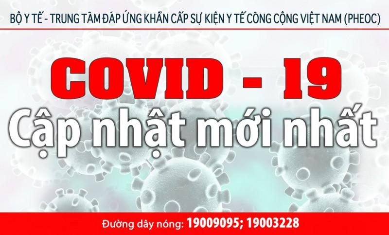Cập nhật tình hình dịch viêm đường hô hấp cấp Covid-19 tính đến 8h30 ngày 26/5/2020