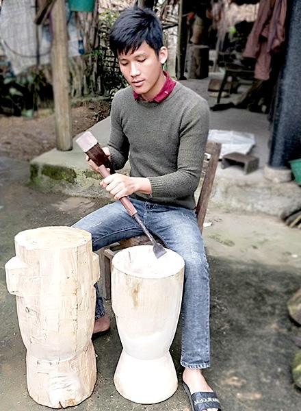 Độc đáo hông xôi bằng gỗ của người Tày ở Tuyên Quang