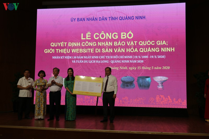 Quảng Ninh đón nhận thêm 3 bảo vật quốc gia