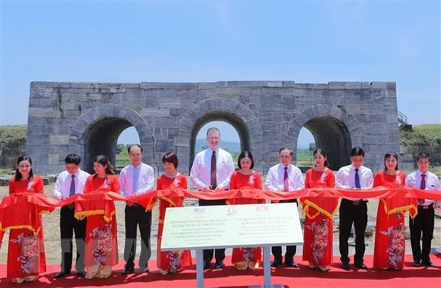 Khánh thành dự án tu sửa mái vòm và bảo tồn cổng phía Nam Thành nhà Hồ