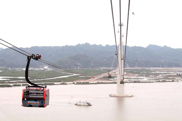 Hải Phòng khai trương tuyến cáp có trụ cáp treo cao nhất thế giới