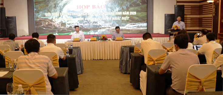 Họp báo giới thiệu chương trình kích cầu du lịch Quảng Bình năm 2020