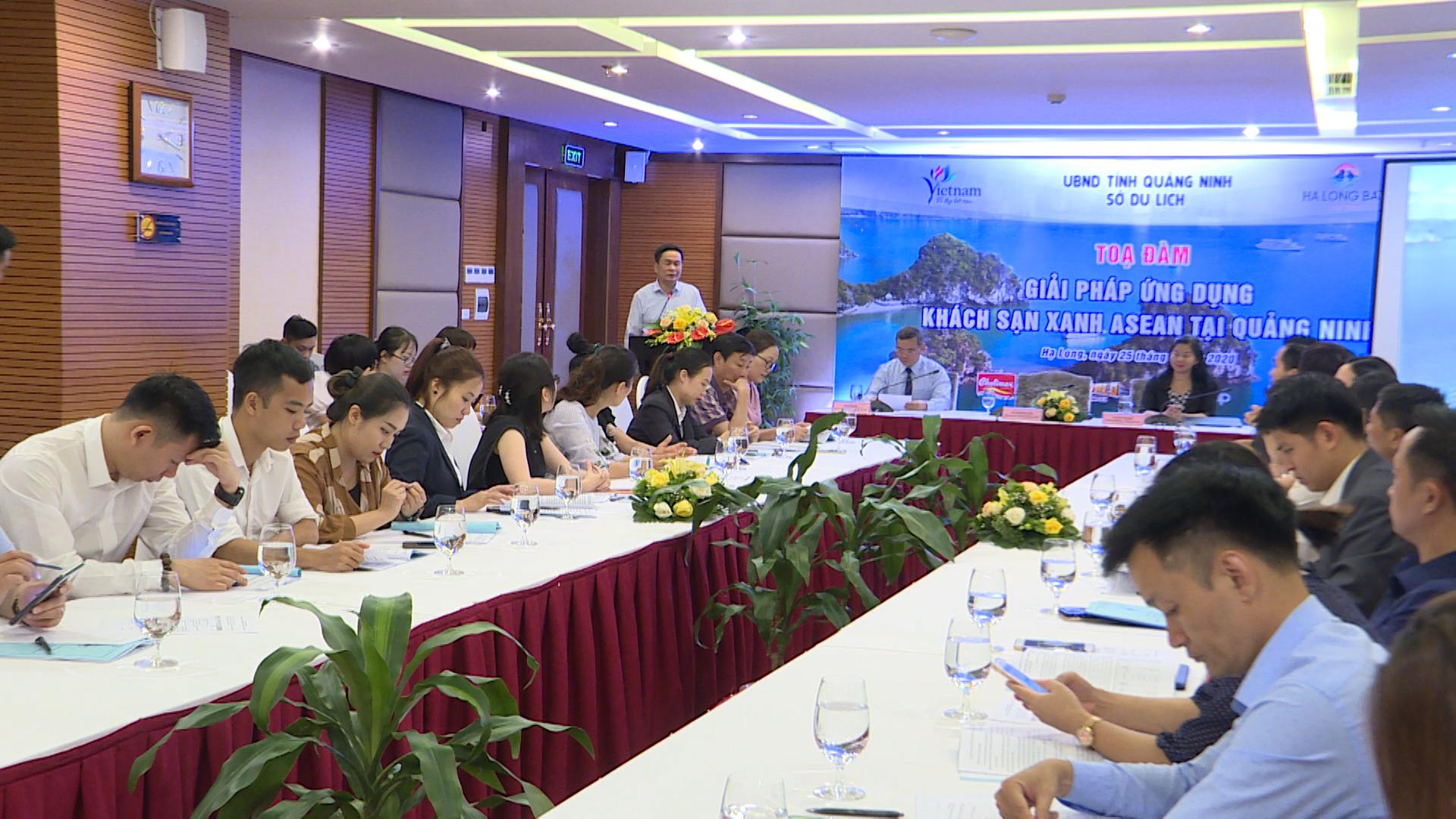 Toạ đàm giải pháp ứng dụng khách sạn xanh ASEAN tại Quảng Ninh