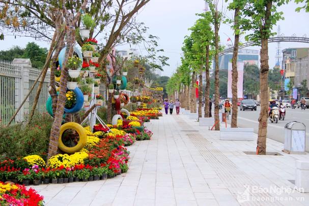 Nghệ An: TP.Vinh sẽ xây dựng vườn hoa nghệ thuật và đài phun nước tại phố đi bộ