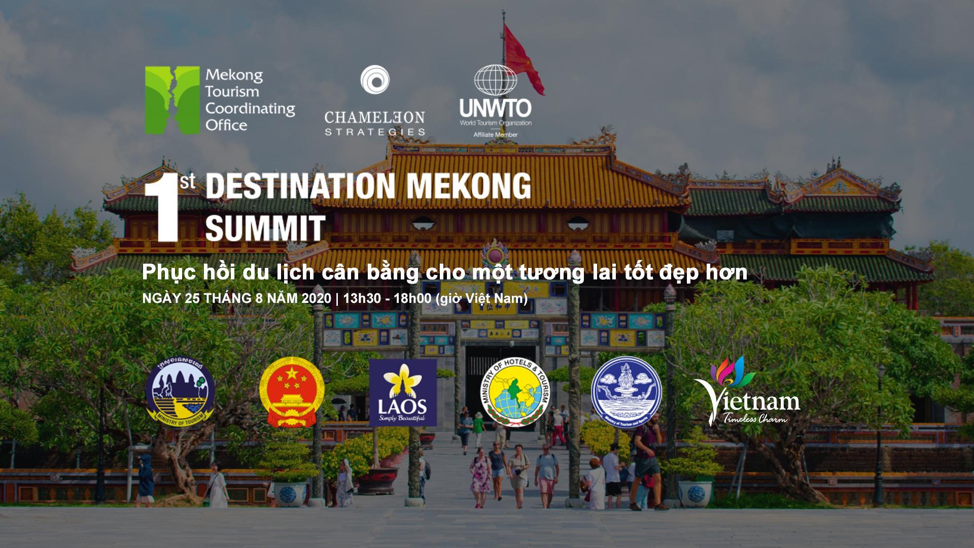 Ngày 25/8: Trực tuyến Hội nghị thượng đỉnh Điểm đến du lịch Mê Công với sự tham gia của các diễn giả hàng đầu thế giới