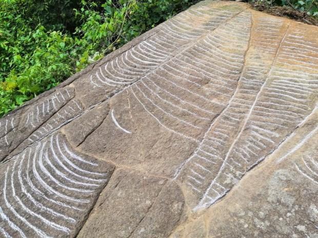 Phát hiện 'siêu phẩm' ruộng bậc thang khắc trên đá cổ ở Mù Cang Chải