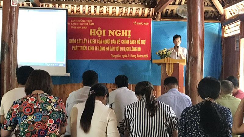 Hòa Bình: Khảo sát ý kiến người dân về chính sách hỗ trợ phát triển kinh tế gắn với du lịch cộng đồng vùng hồ Hòa Bình