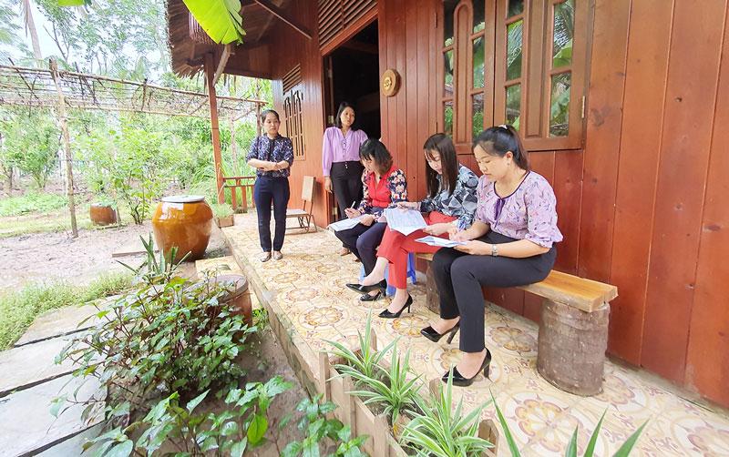 Bến Tre: Thẩm định homestay được xét hỗ trợ phát triển du lịch cộng đồng