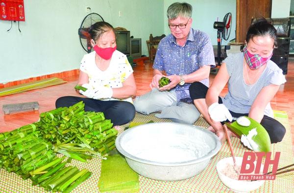 Dẻo thơm bánh lá răng bừa ở xã Xuân Lập (Thanh Hóa)