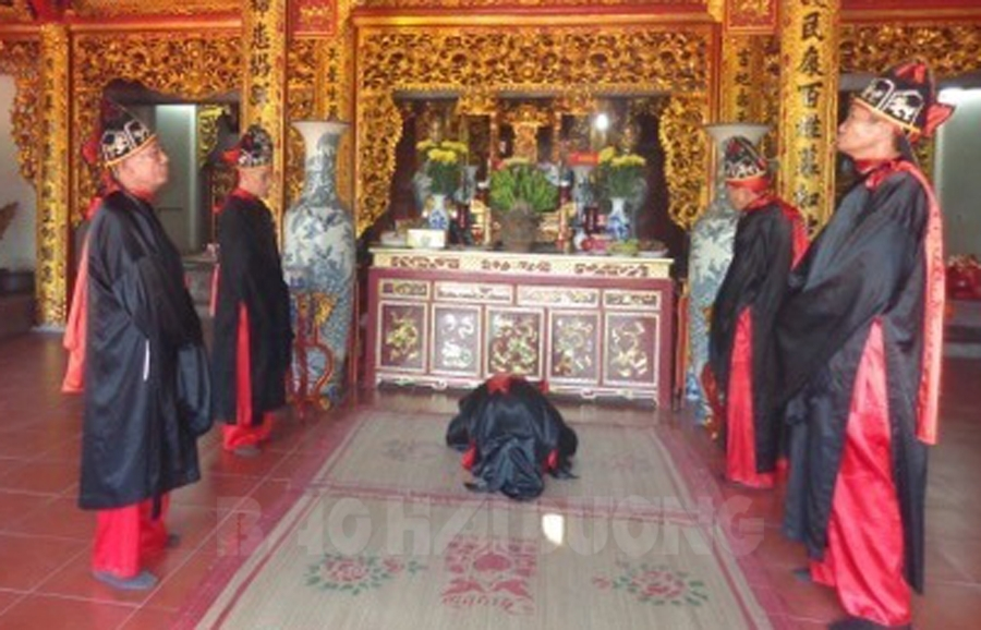Nét đẹp lễ thượng điền tại khu di tích lịch sử đền Cao (Hải Dương)