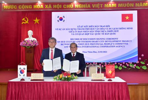 KOIKA ký kết hỗ trợ xây dựng thành phố Huế văn hoá và du lịch thông minh
