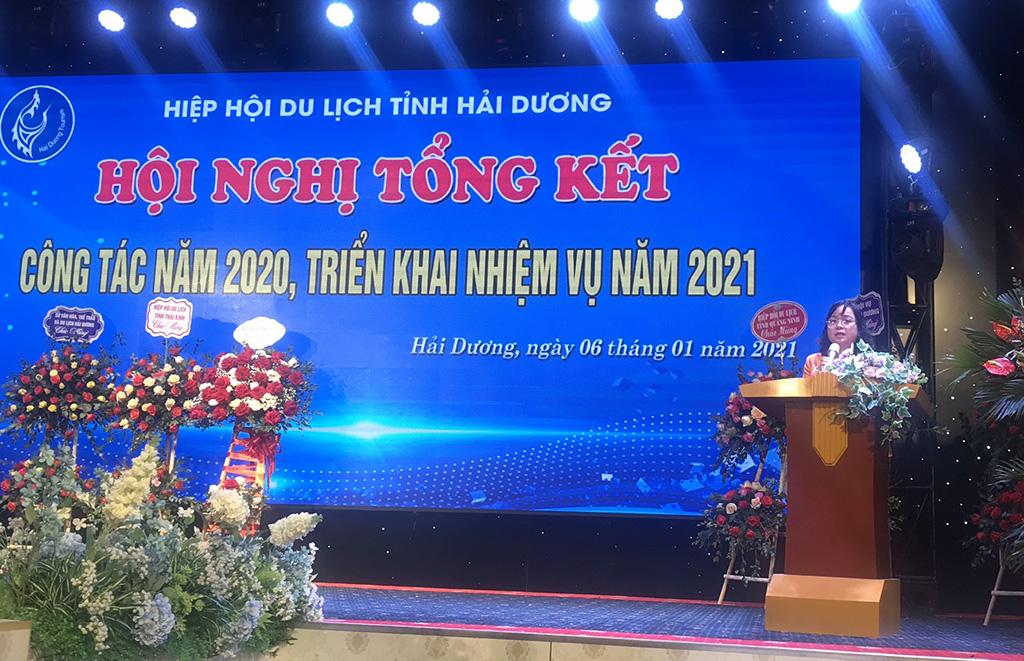 Phó Tổng cục trưởng Nguyễn Thị Thanh Hương dự Hội nghị tổng kết công tác năm 2020 của Hiệp hội Du lịch Hải Dương