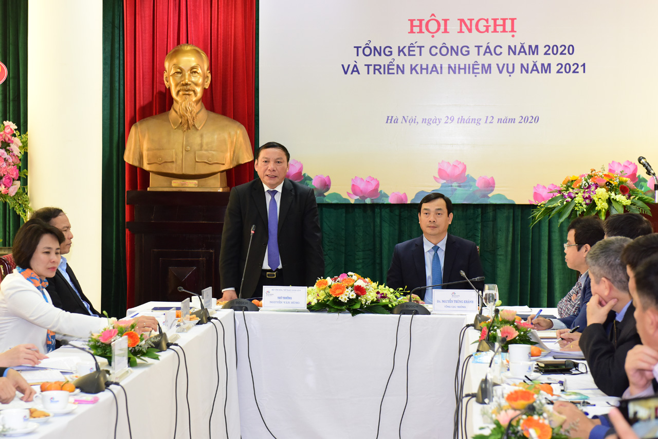Hội nghị tổng kết công tác năm 2020 và triển khai nhiệm vụ năm 2021 của Tổng cục Du lịch