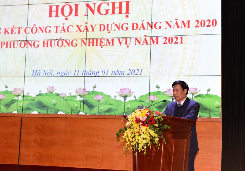 Đảng bộ Bộ VHTTDL tổ chức Hội nghị Tổng kết công tác xây dựng Đảng năm 2020, phương hướng nhiệm vụ năm 2021