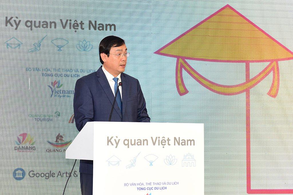 """Tổng cục trưởng Nguyễn Trùng Khánh: Dự án """"Google Arts and Culture - Kỳ quan Việt Nam"""" sẽ giúp các điểm đến du lịch Việt Nam tỏa sáng trên thế giới"""