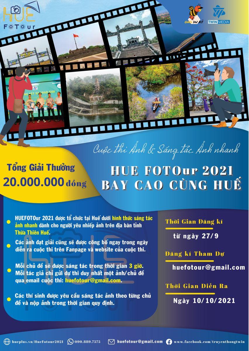 """Thừa Thiên Huế: Tổ chức cuộc thi ảnh """"HUEFOTOur 2021"""""""