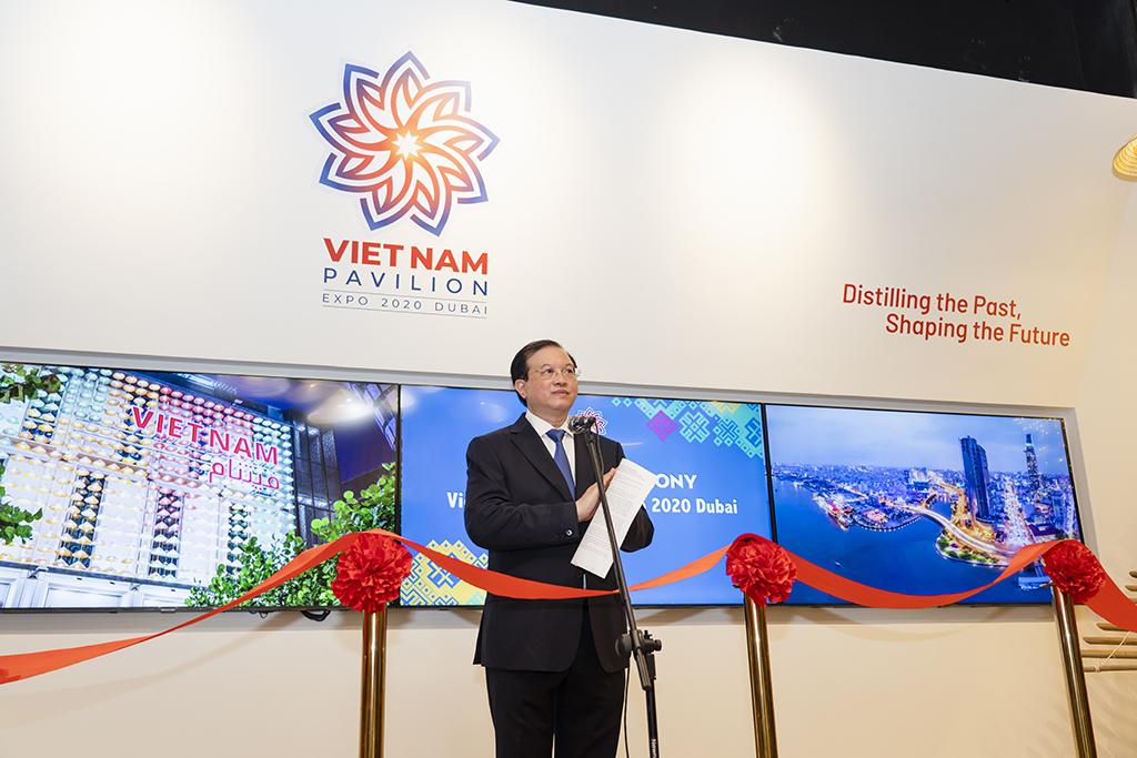 """Khai trương Nhà Triển lãm Việt Nam tại EXPO Dubai 2020 """"Hội tụ quá khứ, lan tỏa tương lai"""""""